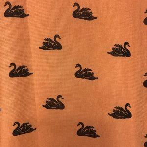 ASOS Dresses - ASOS Dress Size 4 Swan Print Side Ruching Lace